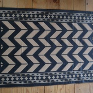 Black & Tan Chevron  65 x 27""