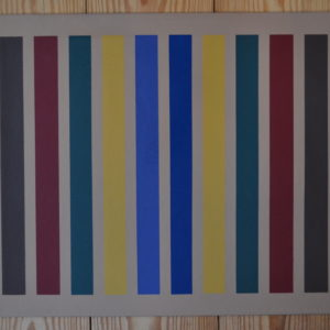 "Multi-Colored Stripes  32"" x 26"""