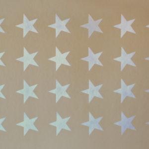 """White Stars on Sand  35"""" x 25"""""""