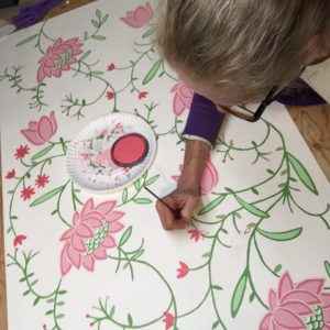 Susan at work- Tulip Vine